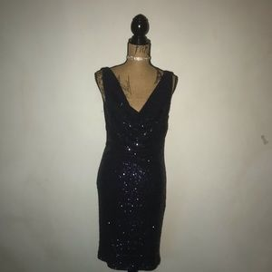 Navy Blue Le Chateau Sequin Dress 👌🏼🖤